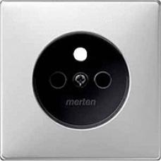 kryt pre zásuvku stainless steel Schneider Merten MTN2530-4146 System Design