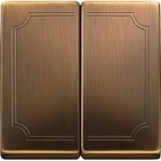 kryt antique brass pre sériový vypínač č.5,5B,6+6, MTN412543