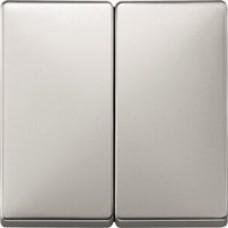 kryt stainless steel pre vypínač č. 5, 5B, 6+6 Schneider Merten MTN412546 System Design