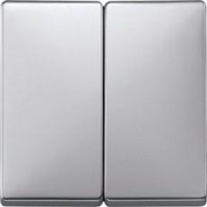 kryt aluminium pre vypínač č. 5, 5B, 6+6 Schneider Merten MTN412560 System Design