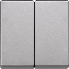 krytka aluminium Schneider Merten MTN433560 pre vypínače č.5, 5B,6+6