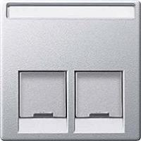 kryt aluminium pre dátovú zásuvku 2xRJ45, MTN466560