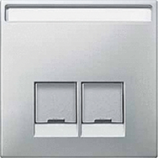 kryt stainless steel pre dátovú zásuvku 2xRJ45 Schneider Merten MTN466646 System Design