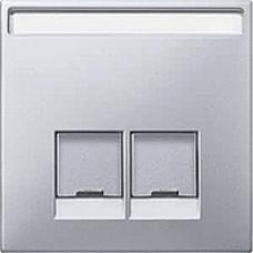 kryt aluminium pre dátovú zásuvku 2xRJ45 Schneider Merten MTN466660 System Design