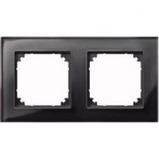 2rámik Onyx Black Merten M-Plan sklo MTN404203 system-M