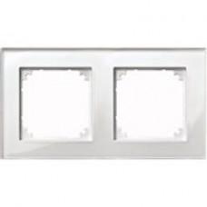 2rámik Brilliant White Merten M-Plan sklo MTN404219 system-M