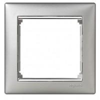 hliníkový/strieborný prúžok 1 rámik Legrand Valena hliník 770351