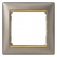 titan/zlatý prúžok 1 rámik Legrand Valena hliník 770361