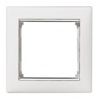 biely/strieborný prúžok 1 rámik Legrand Valena neutral 770491