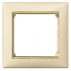 béžový/zlatý prúžok 1 rámik Legrand Valena klasik 774151
