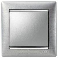 hliník brúsený/strieborný prúžok 1 rámik Legrand Valena hliník 770331