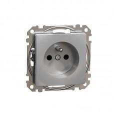 zásuvka aluminium s clonkami Schneider Sedna design SDD113011 skrutková