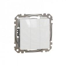 vypínač 1+1+1 biely Schneider electric Sedna design SDD111103