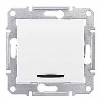 jednopólový vypínač č.7 s orientačným podsvietením, 230V,10A,IP20 biely, SDN0501121