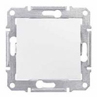 jednopólový vypínač č.6, IP44, 230V,10A,IP20 biely, SDN0400521