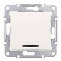 jednopólový vypínač č.1 s orientačným podsvietením, 230V,10A,IP20 biely,SDN1400121