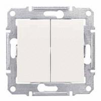 dvojpólový vypínač č.5, IP44, 230V,10A, biely, SDN0300421