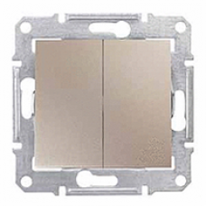 dvojpólový vypínač č.5, 230V,10A,IP20 titán,SDN0300168
