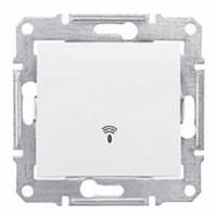tlačidlo so symbolom zvonček, IP44, 230V,10A,IP20 biele, SDN0800321