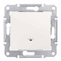 tlačidlo so symbolom svetlo, 230V,10A,IP20 biele, SDN0900121
