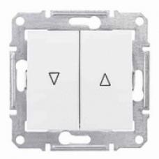 žalúziový spínač s mechanickým blokovaním biely Schneider Sedna SDN1300321