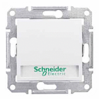 tlačidlo podsvietené so štítkom, 230V,10A,IP20 biele, SDN1600321