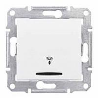 tlačidlo podsvietené so symbolom zvonček, 230V,10A,IP20 biele, SDN1600421