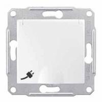 zásuvka 2P+PE s clonkami, IP44, 230V,16A biela, SDN2800321