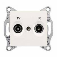 TV+R zásuvka priebežná biela Schneider Sedna SDN3301821
