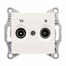 TV+R zásuvka koncová,1dB,IP20 krémová,SDN3301623
