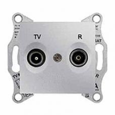 TV+R zásuvka koncová,1dB,IP20 hliník,SDN3301660