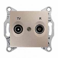 TV+R zásuvka koncová,1dB,IP20 titán,SDN3301668