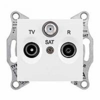 SAT+TV+R zásuvka priebežná biela Schneider Sedna SDN3501421