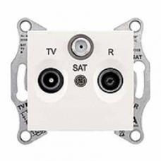 TV+R+SAT zásuvka priebežná,4dB, IP20, krémová, SDN3501423