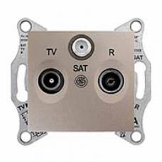 TV+R+SAT zásuvka koncová,1dB,IP20, titán, SDN3501368