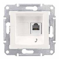 telefónna zásuvka 1xRJ11,IP20 biela, SDN4101121