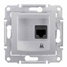 dátová zásuvka 1xRJ45 kat. 5e UTP,IP20, hliník, SDN4300160