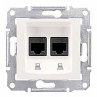 dátová dvojzásuvka 2xRJ45 kat. 6 STP,IP20 biela, SDN5000121