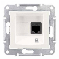 dátová zásuvka 5e STP biela Schneider Sedna SDN4500121