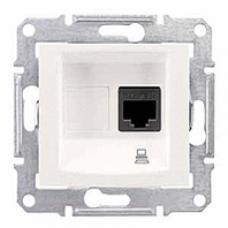 dátová zásuvka 1xRJ45 kat. 5e UTP,IP20, krémová, SDN4300123