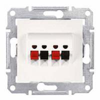 reproduktorová zásuvka dvojitá, IP20, biela, SDN5400121