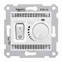 termostat s vypínačom, 10A, IP20, biely, SDN6000121