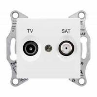 TV+SAT zásuvka koncová biela Schneider Sedna SDN3401621