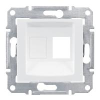kryt dátovej zásuvky 1xRJ45 Schneider Sedna SDN4300621 biely