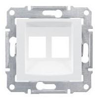 kryt dátovej dvojzásuvky biely 2xRJ45 Schneider Sedna SDN4400621