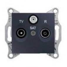 SAT+TV+R zásuvka koncová grafit Schneider Sedna SDN3501370