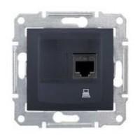 dátová zásuvka 5e UTP grafit Schneider Sedna SDN4300170