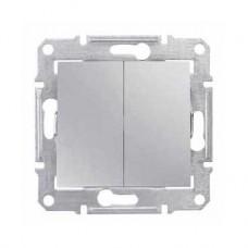 dvojpólový vypínač č.5, 230V,10A,IP20 hliník,SDN0300160