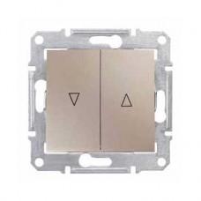 žalúziový spínač s mechanickým blokovaním, 230V,IP20 titán, SDN1300368