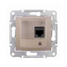 dátová zásuvka 1xRJ45 kat. 5e UTP,IP20, titán, SDN4300168